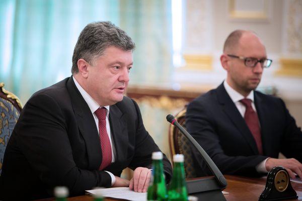 Президент Украины П.Порошенко провел экстренное заседание СНБО
