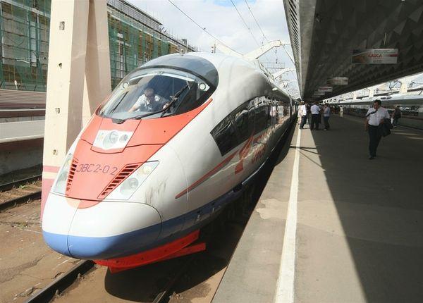 """High-speed train """"Sapsan""""."""